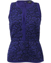 J. Mendel Halter Top with Lace Embroidery - Lyst