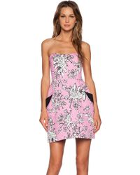 RED Valentino Bouquet Print Dress - Lyst
