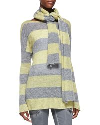 DKNY Striped Woven Scarf - Lyst