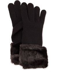 Ivanka Trump - Faux-fur Knit Gloves - Lyst