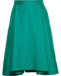 OSMAN Pleated Skirt green - Lyst