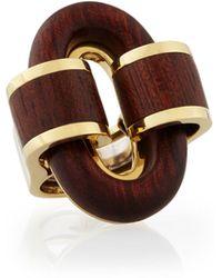 David Webb - 18k Gold Bloodwood Buckle Ring - Lyst