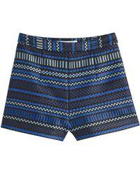 Diane von Furstenberg | Casie Jacquard Shorts - Blue | Lyst