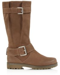 Gentle Souls - Buckled Up Mid Shaft Boots - Lyst