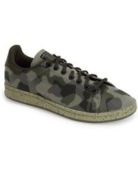 Adidas 'Stan Smith' Camo Sneaker - Lyst