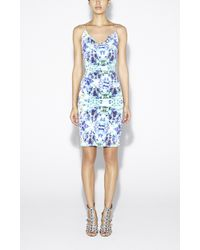 Nicole Miller Carly Water Lily Cotton Metal Dress - Lyst