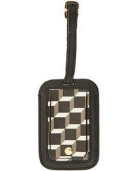 Pierre Hardy Black Geo Cube Print Luggage Tag - Lyst