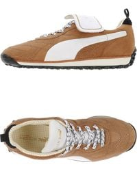 Alexander McQueen x Puma | Perforated Leather Low-Top Sneakers | Lyst