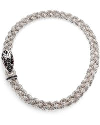 John Hardy Naga Black Sapphire, Ruby & Sterling Silver Dragon Braided Chain Necklace - Lyst
