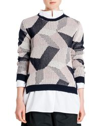 Jil Sander Abstract Intarsia Knit Sweater - Lyst