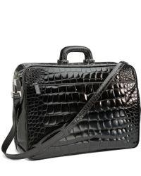 Brooks Brothers Glazed Alligator Travel Bag - Lyst