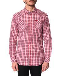 Diesel Sulfura Micro-Check Red Shirt - Lyst
