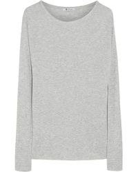 T By Alexander Wang Ribbed Jersey Top - Lyst