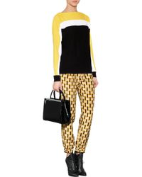 Fendi Cashmere Blend Colorblocked Pullover multicolor - Lyst