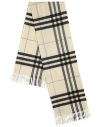 Burberry | Giant Check Cashmere Scarf | Lyst