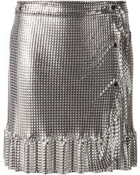 Paco Rabanne Mini Skirt - Lyst