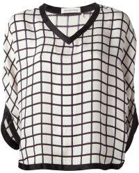 Etoile Isabel Marant Grid Print Blouse - Lyst