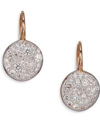 Pomellato Sabbia Diamond & 18K Rose Gold Drop Earrings - Lyst