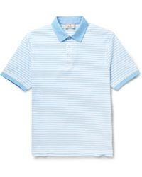 Hackett Striped Cotton Polo Shirt - Lyst
