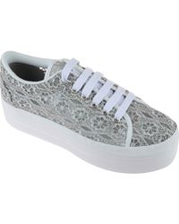 Jeffrey Campbell Zomg Sneakers Pizzo Grigio Tessuto - Lyst