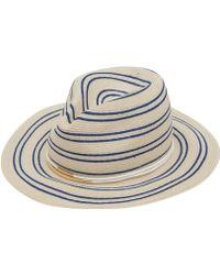 Eugenia Kim - Cream Courtney Stripe Hat - Lyst