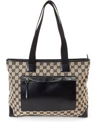 Gucci Two-Tone Tote Bag black - Lyst