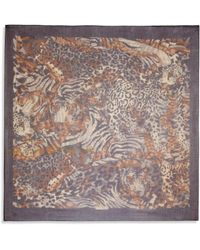 Ferragamo Abstract Leopard-Print Scarf brown - Lyst