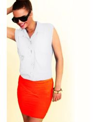 Boulee - Ty Scuba Skirt In Coral - Lyst