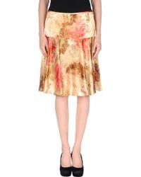 John Galliano Knee Length Skirt - Lyst