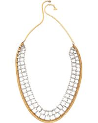Serefina Crystal  Chain Necklace - Goldclear - Lyst