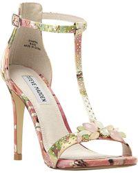 Steve Madden Shawna Embellished T-Bar Sandals - For Women - Lyst