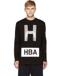 Hood By Air Black Thumbprint Logo T_shirt - Lyst