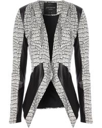 Jane Norman Pu Asymmetric Blazer Jacket - Lyst
