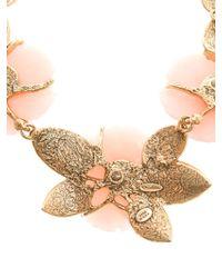 Oscar de la Renta Peonyembellished Necklace - Lyst
