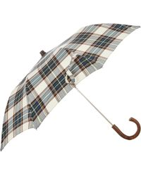 Barneys New York - Tartan Compact Umbrella - Lyst