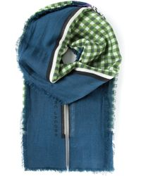 Marc Jacobs Checked Scarf - Lyst