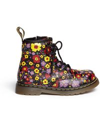 Dr. Martens 'Brooklee' Floral Print Leather Infant Boots - Lyst