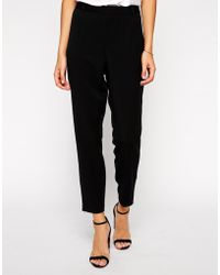 Asos Slim Pant With Ankle Zips - Lyst