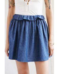 Urban Renewal - Recycled Chambray Mini Skirt - Lyst