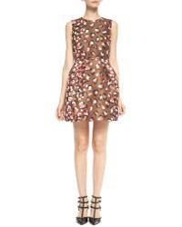 RED Valentino Sleeveless Pop Leo-print Dress - Lyst