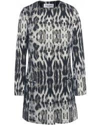 Helene Berman Metallic Leopard Print Coat - Lyst