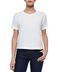 Rag & Bone Suzanne Slub-Knit T-Shirt - Lyst