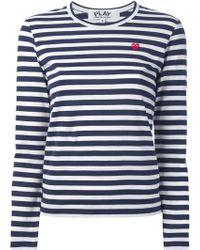 Comme Des Garçons Long Sleeve Tshirt - Lyst