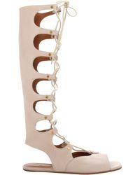 Chloé Tall Gladiator Sandal In Beige Tall Gladiator Sandal In Beige - Lyst