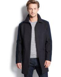 Calvin Klein Colorblocked Three-quarter Slim-fit Coat - Lyst