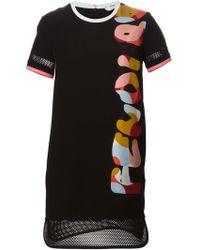 Fendi Colourful Logo Dress - Lyst