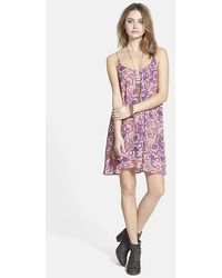 Free People 'Emily' Print Swing Dress floral - Lyst
