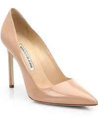 Manolo Blahnik | Bb 105 Patent Leather Point-toe Pumps | Lyst