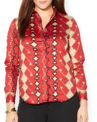 Ralph Lauren Lauren Plus Southwestern Shirt - Lyst