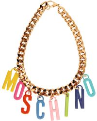 Moschino Chain Necklace With Charms - Lyst